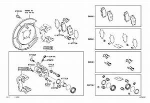 Toyota Camry Disc Brake Pad Set  Rear   A Set Of Disc