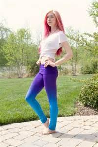 Blue and Purple Teen Yoga Pants