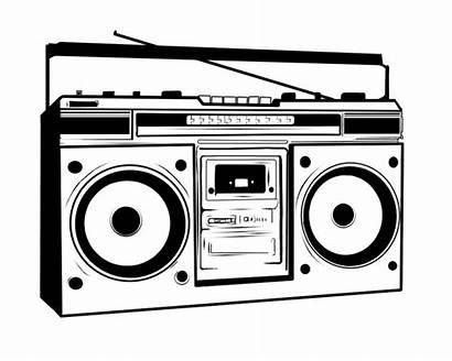 Boombox 80s Clipart 80 Vector Ghetto Drawing