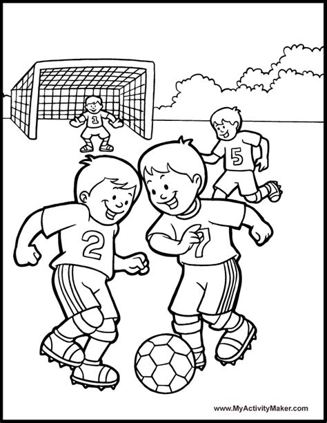 soccer coloring page projects   sports coloring