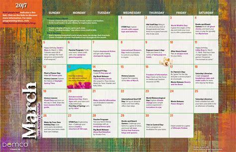 teen activities calendar march