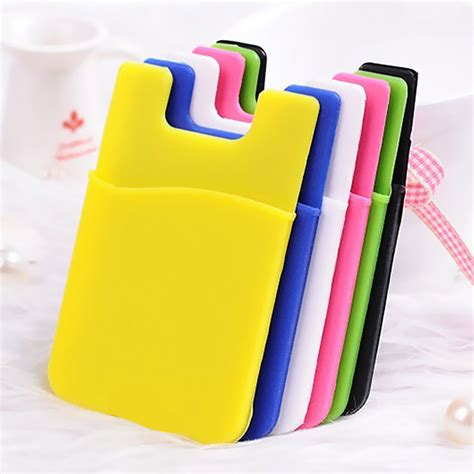 silicone phone silicone smart wallet credit card stick adhesive