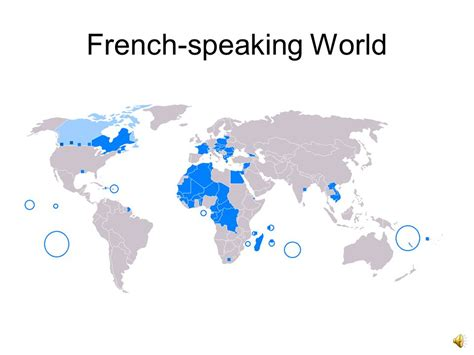 The World Of French Over 300 Million People All Over The