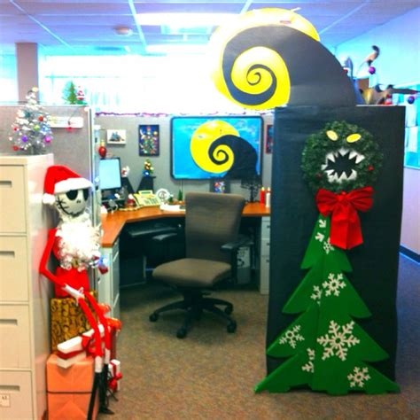nightmare  christmas decorate cubical contest