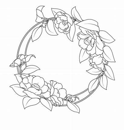 Outline Border Circle Flower Outlines Borders Frame