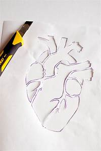 Anatomical heart stencil template and embroidery pattern ...