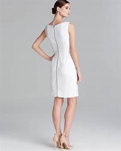 Lyst T Tahari Myra Eyelet Sheath Dress In White