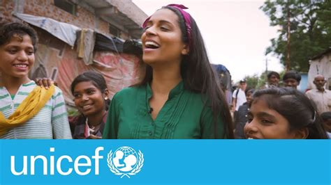 lilly singh joins  family  unicef youtube
