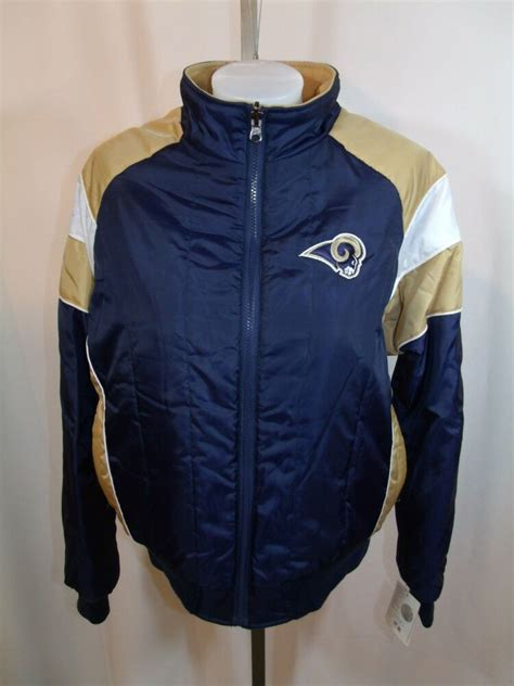 st louis rams womens medium reversible jacket coat