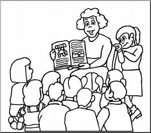 Teacher Reading Clip Art Black And White Gallery Diagram