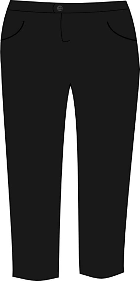 trousers black clip art  clkercom vector clip art