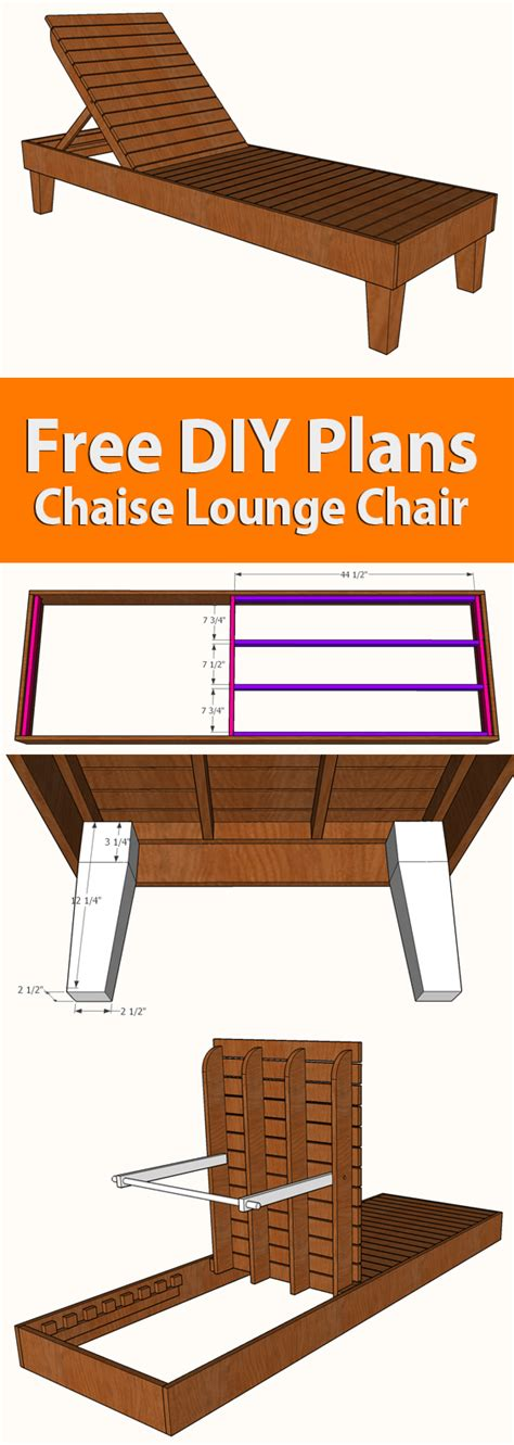 diy chaise lounge chair plans famous artisan chaise