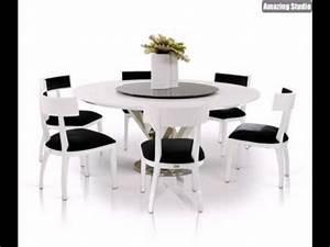 Weisse Esstisch Stühle : elegantes interieur wei e m bel runder esstisch wei glas ~ Michelbontemps.com Haus und Dekorationen