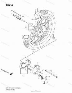 Suzuki Motorcycle 2005 Oem Parts Diagram For Front Wheel  Dr K4  K5  K6  K7