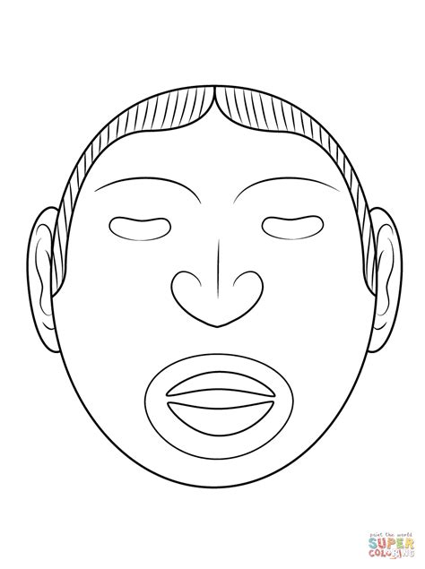 aztec mask template sketch warrior aztec coloring pages