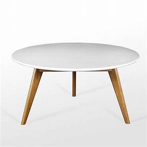 Best 10 of white wood round coffee table for Scandinavian wood coffee table