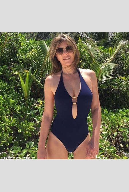 Elizabeth Hurley sets pulses racing in bright bikini | Daily Mail Online