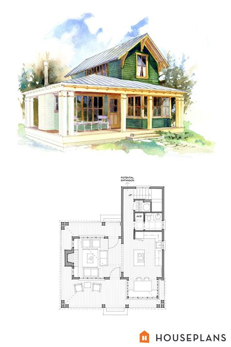 Cottage Homes Floor Plans by Small 1 Bedroom Cottage Floor Plans And Elevation By