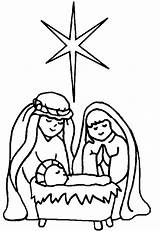 Coloring Nativity Pages Printable Scene Bible sketch template