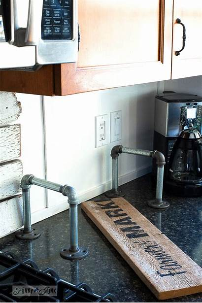 Wood Coffee Industrial Pipe Reclaimed Station Mini