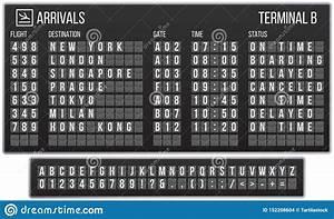 Abc Flip Chart Scoreboard Flip Font Arrival Airport Signs Board
