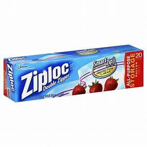 Ziploc Storage Bags, Gallon, Double Zipper, 20 bags