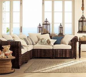 seagrass five piece sectional tropical sectional sofas With pottery barn seagrass sectional sofa
