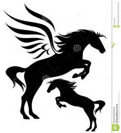 pegasus design pegasus vector silhouette stock images image 27316804