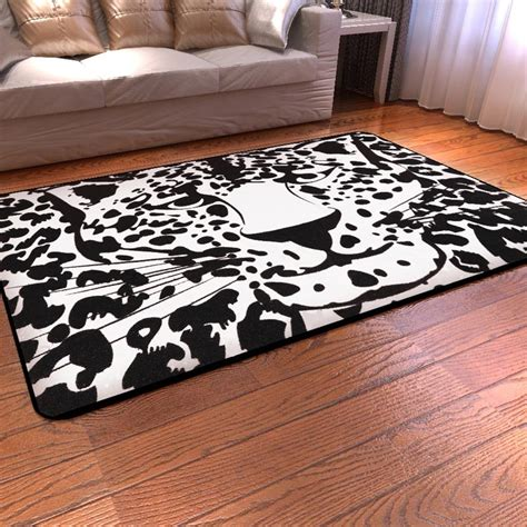 leopard print rug black and white leopard print rug best decor things