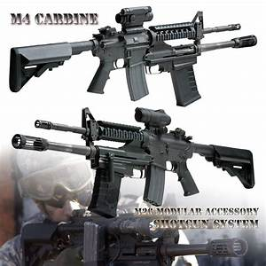Firearm Gun Poster M4 Carbine Rifle M26 Shotgun Modular