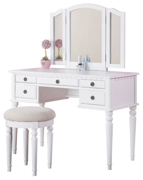 desk with drawers and mirror tri folding mirror make up table vanity set wood w stool