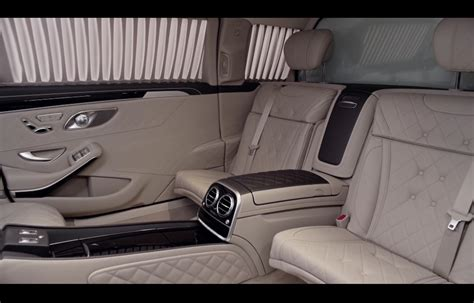 The windows are opened through a hydraulic system. Interior.... Mercedes-Maybach S600 Pullman   Mercedes ...