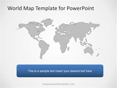 world map template free world map powerpoint template