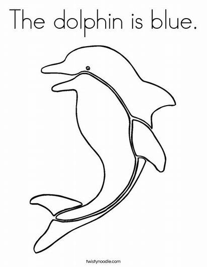 Coloring Dolphin Pages Colouring Dolfin Noodle Ll