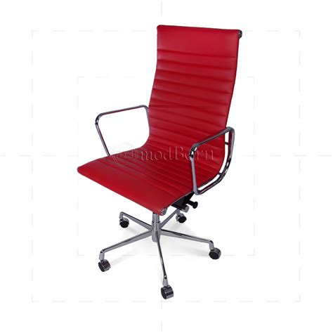 ea119 eames style office chair high back ribbed
