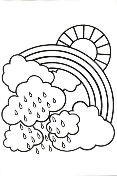 coloring pages rainy day coloring home