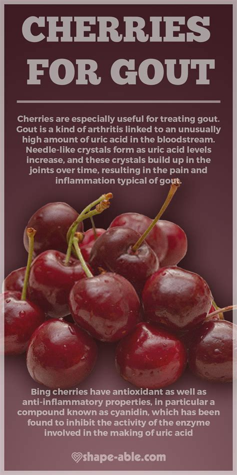 cherries gout want right use site