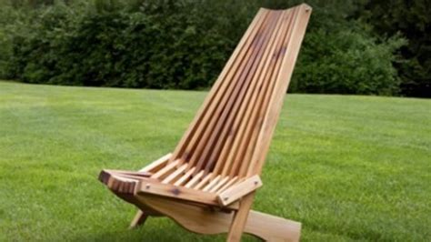 coolest  fold  cedar lawn chair ive