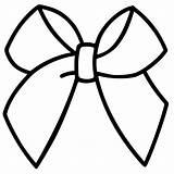 Bow Cheer Drawing Template Clipart Bows Coloring Outline Ribbon Hair Printable Clip Pages Cheerleader Silhouette Cliparts Templates Gold Sketch Outlines sketch template