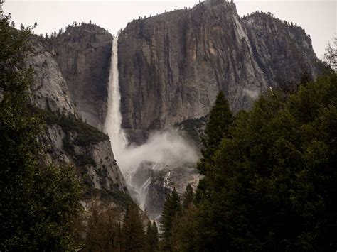 Yosemite Valley Floods Waterfalls Off Snowbrains
