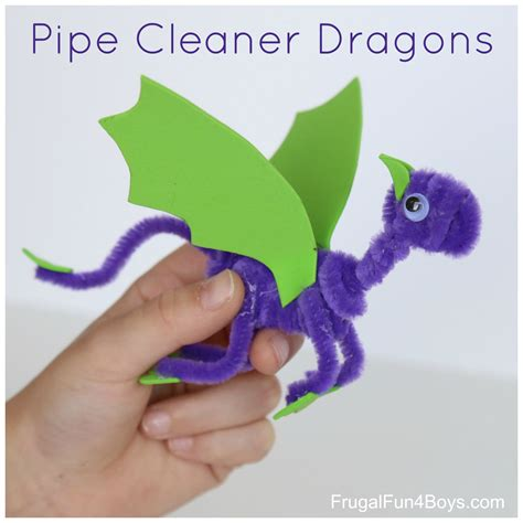 and crafts ideas for boys pipe cleaner dragons craft for frugal for boys