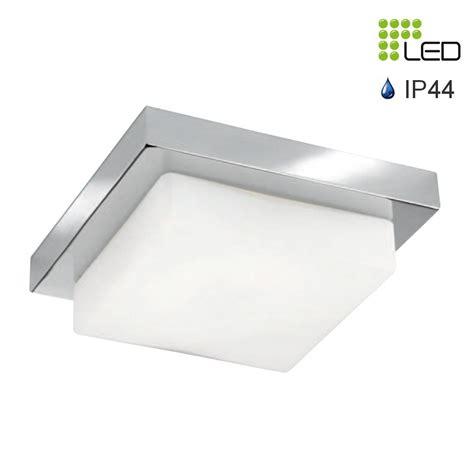 nord plafonnier carr 233 chrom 233 verre blanc led 12w 840 lumens ip44