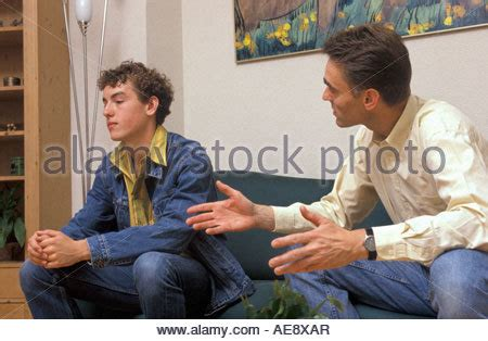 conflict  father  teenage son stock photo alamy