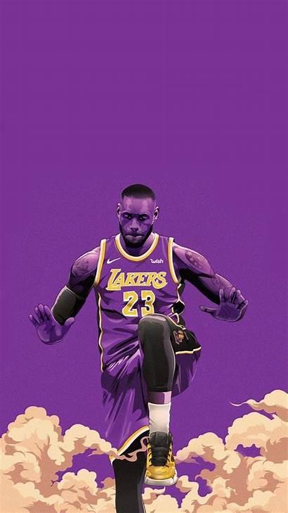 Lebron James Wallpapers Lakers Iphone Cartoon Nba