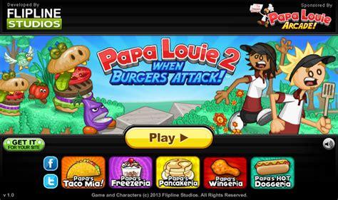 jeu de cuisine papa louis papa louie 2 jeu gratuit