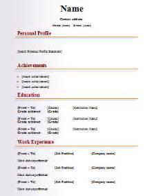 free resume template downloads australian fashion cv template