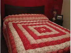 carpenter square wall hanging and biscuit quilt for guest room