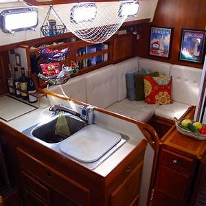 windtraveler making a boat a home the art of decorating With interior decorating ideas for boats