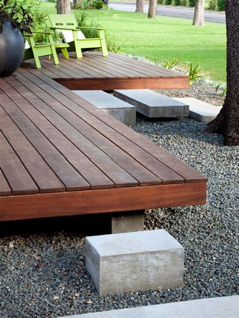 floating deck houzz