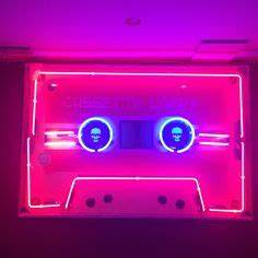 Image result for 80s lights aesthetic